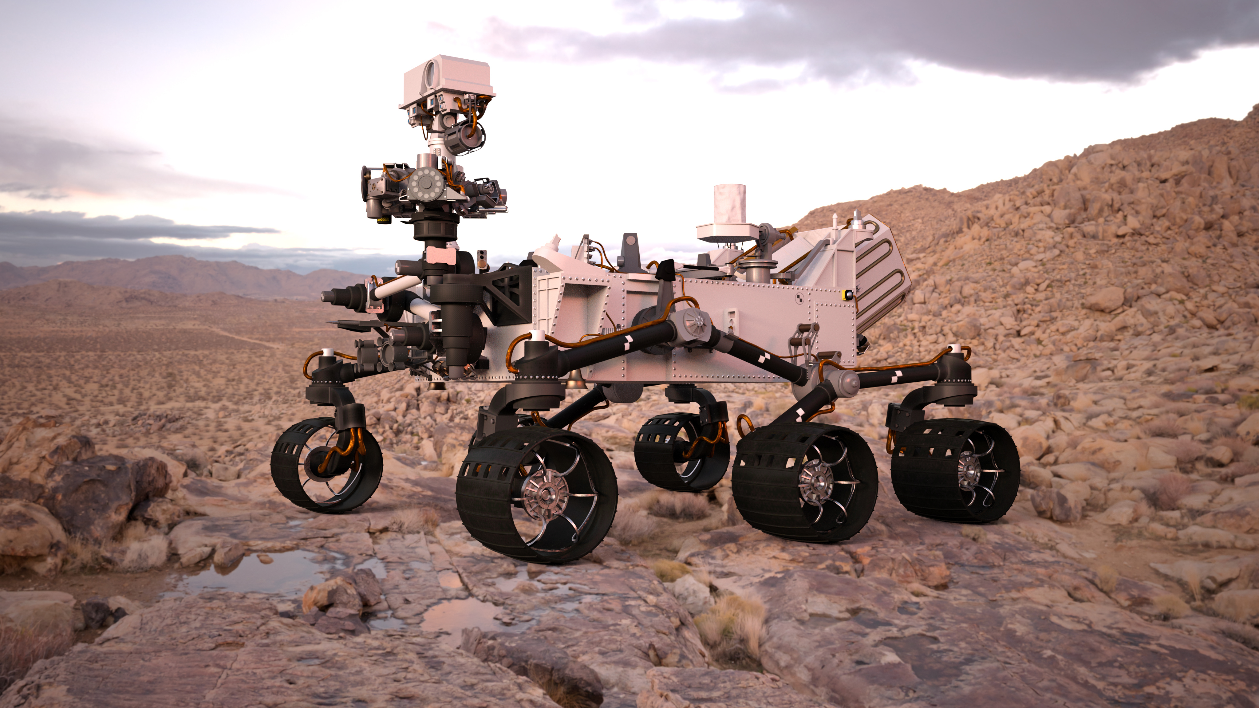 3D Illustration Of A Mars Rover